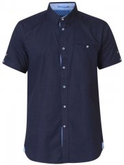D555 Tim Short Sleeve Shirt Navy