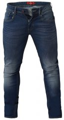 D555 Ambrose Tapered Fit Stretch Jeans Dark Blue