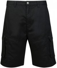 Motley Denim Cargo Shorts Black