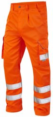 Leo Bideford Cargo Pants Hi-Vis Orange