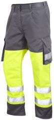 Leo Bideford Cargo Pants Hi-Vis Yellow/ Grey