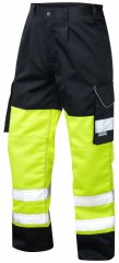 Leo Bideford Cargo Pants Hi-Vis Yellow/ Navy