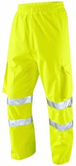 Leo Instow Breathable Executive Cargo Rain pants Hi-Vis Yellow
