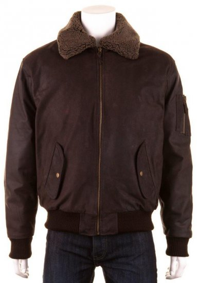 Woodland Aviator Leather jacket Brown - Striukės & Lietaus apranga - Striukės - 2XL-8XL