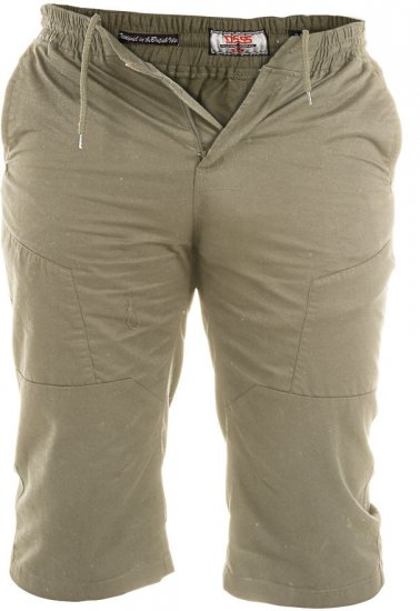 D555 Jefferson Long Length Cotton Short Khaki - Šortai - Šortai - W40-W60