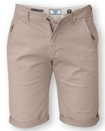 D555 COLTEN Stretch Cotton Chino Short Beige - Šortai - Šortai - W40-W60